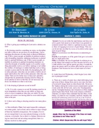 Bulletin for March 7th, 3rd Sunday of Lent